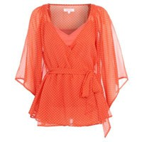 Orange star print kaftan - Kaftans & tunics - Tops - Women -