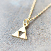 Tri Force Necklace in gold