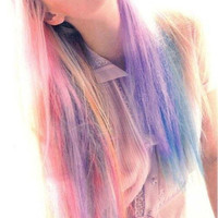 COTTON CANDY Pastel Hair Mix // (4) Pieces // Clip In Human Hair Extensions