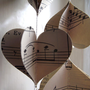 Vintage Music 3D Paper Mobile Heart Strings