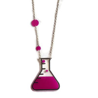 Geek Jewelry,Love Potion Necklace,Back to school Jewelry,Lasercut Acrylic