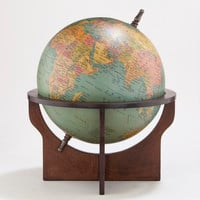Green Globe with Brown Wood Stand | World Market