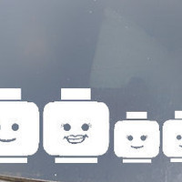 Lego Family Car Sticker Set of 4
