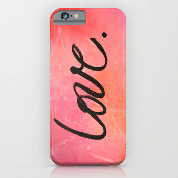 love. iPhone & iPod Case by Amy Giacomelli