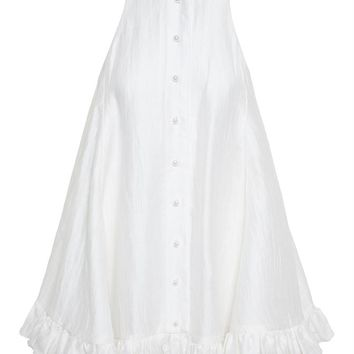 Linen Trapeze Dress - ADAM SELMAN