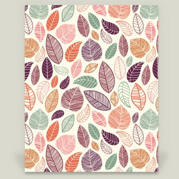 Fall Leaves Art Print by sugarandbeanprintco on BoomBoomPrints