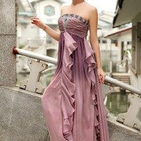sexy bridesmaid dress strapless wedding dress evening dress prom gown | mydresses - Wedding on ArtFire