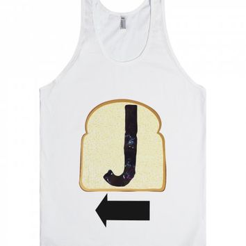 Jelly Peanut Butter-Unisex White Tank