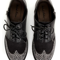 Michael Antonio Peter Black Rhinestone Wingtip Oxfords - $61.00