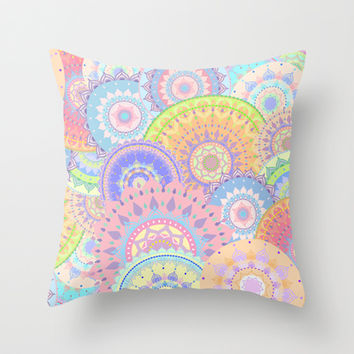 Pastelalas Throw Pillow by Sara Eshak