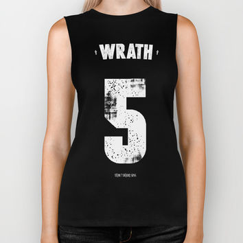 7 Deadly sins - Wrath Biker Tank by HappyMelvin