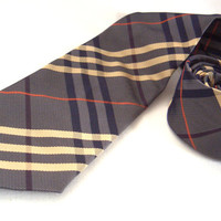 Burberry Nova Check pure silk tie - British striped tie - London high fashion - Classic tie, Mens wear, Casual accessory