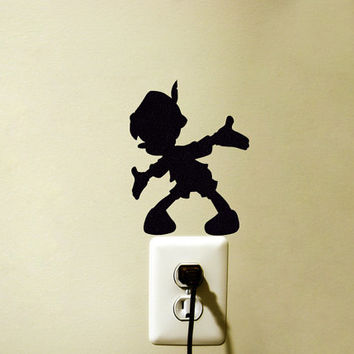Pinocchio Fabric Decal - Nursery Wall Decor - Baby Room Wall Sticker