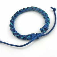 Bangle leather bracelet women bracelet men bracelet woven bracelet made of  leather and ropes woven cuff bracelet  SZ-LH-0735