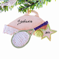 Tennis personalized ornament - Christmas ornament tennis - tennis player Christmas ornament - sports ornament