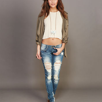 Ripped & Rugged Skinny Jeans | Wet Seal