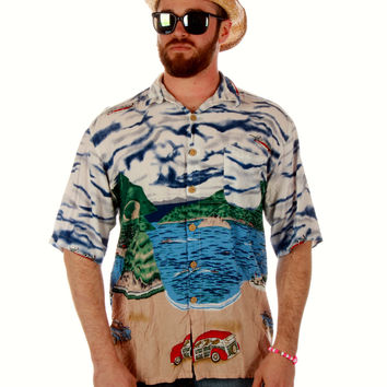 Solid Woody Ocean Button Down