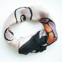 Butterfly Square Silk scarf