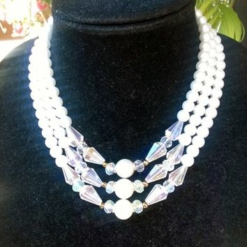Stunning Designer Inspired Style Old Hollywood Glam Pearl Necklace