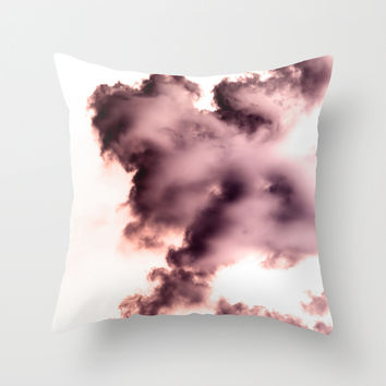 Smoke chemical Throw Pillow by VanessaGF