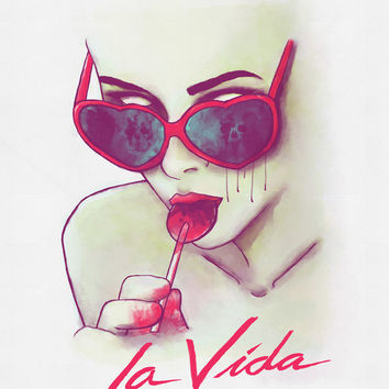 La Vida Art Print by MidnightCoffee