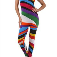 World of Leggings | Color My Life 3-Strap Tank Bodysuit