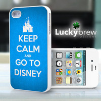 iPhone 4 4s Hard Case - Keep Calm Go To Disney  - Phone Cover IP4