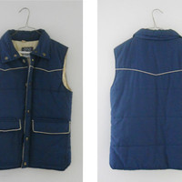 Winter Vest / Ski Vest / Puff Vest / Puffy Vest / Fall Vest / Androgynous / Mens Vest / Womens Vest / Winter Clothing / Fall Clothes / Small
