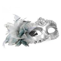 Amazon.com: SODIAL- Venetian Style Silver Eye Costume Masquerade Mardi Mask: Toys &amp; Games