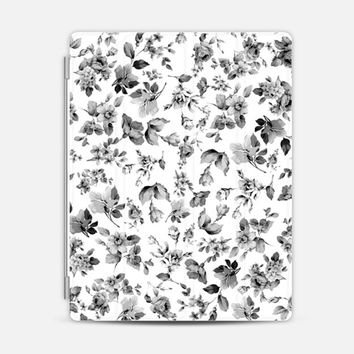 VINTAGE FLORAL IN BLACK AND WHITE - IPAD CASE iPad 3/4 case by Nika Martinez | Casetify