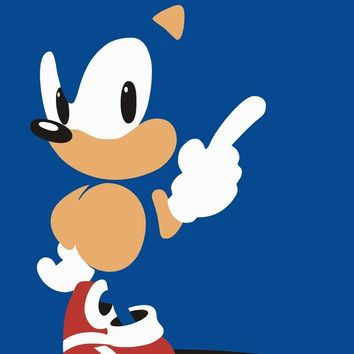 Minimal Sonic Art Print by Byway