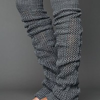Free People Thigh High Crochet Legwarmer