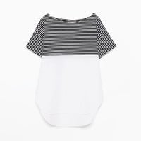 Mixed fabric t-shirt