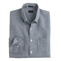 J.Crew Mens Slim Irish Houndstooth Linen Shirt