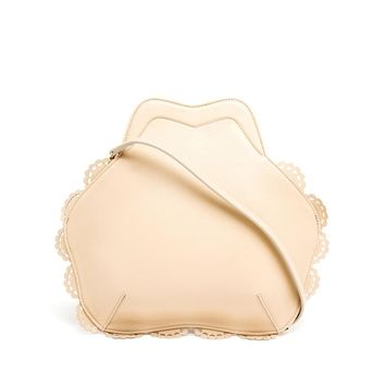 Scalloped Leather Shoulder Bag - SIMONE ROCHA