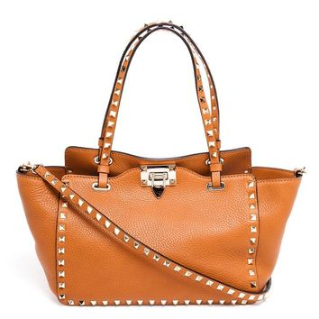 Rockstud Medium Leather Tote - VALENTINO