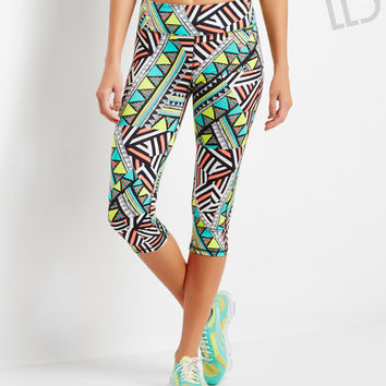 Aeropostale  LLD Abstract Print Cropped Leggings
