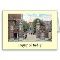 Birthday Card - Marlborough College Gates
