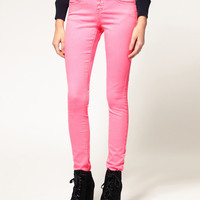 ASOS Skinny Jeans in Neon Pink #4 at asos.com