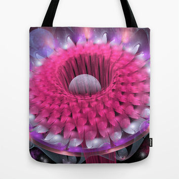 Space flower Tote Bag by Thea Walstra