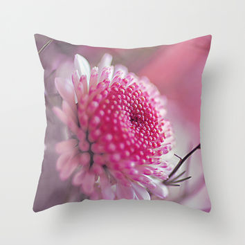 Romantic flower. Throw Pillow by Mary Berg