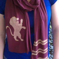 Harry Potter Gryffindor TShirt Scarf by sandsink on Etsy