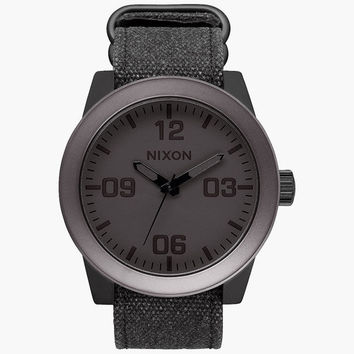 Nixon Corporal Watch Black/Gunmetal One Size For Men 25950114901