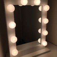 Chic Hollywood Lighted Make-up Vanity Back Stage Mirror (White)