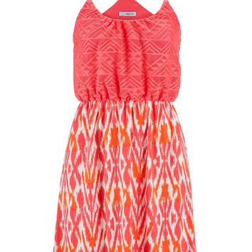 Ethnic Lace Top Dress - Fruit Punch Combo