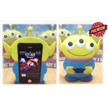 I Need(TM) 3D 3 Eyes Toy Story Alien Movable Eye Hard Case Protector Shield Cover Iphone 4/4S Gift