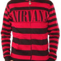 ROCKWORLDEAST - Nirvana, Hoodie, Stripes