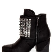 Michael Antonio Studio Marcos Black Studded Ankle Boots