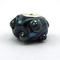 Psychic Swirl Silver Lined Lampworked Glass Big by MercuryGlass