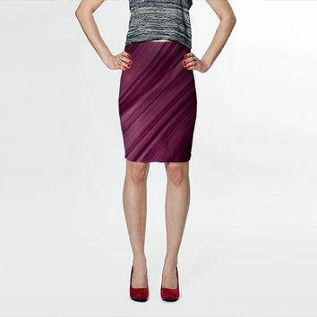 Purple waves by VanessaGF (Fitted Skirt)